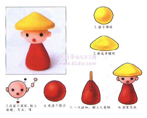 彩泥制作的小男孩-幼儿园教玩具制作-文章中心-小草