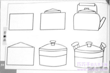 简笔画 茶壶/茶壶和锅的简笔画