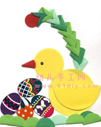 小鸡小鸭拼贴画
