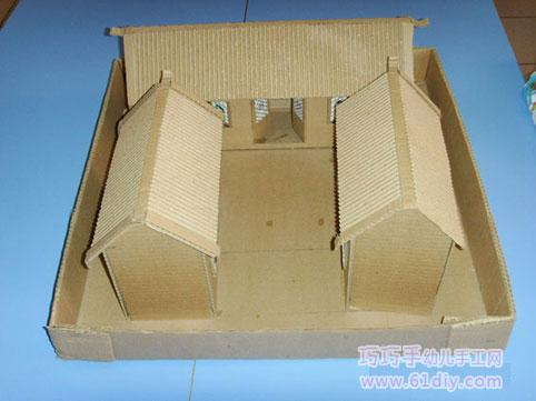 废纸盒制作的房子