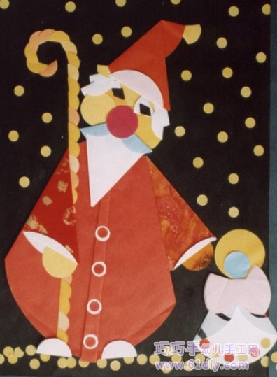 各种圣诞老人的剪贴画作品